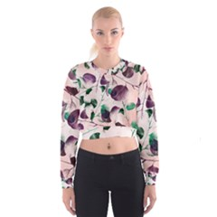 Spiral Eucalyptus Leaves Women s Cropped Sweatshirt