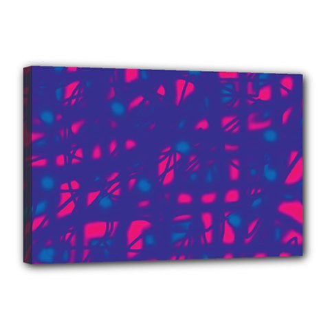 Blue And Pink Neon Canvas 18  X 12  by Valentinaart