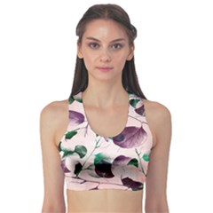 Spiral Eucalyptus Leaves Sports Bra