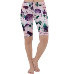 Spiral Eucalyptus Leaves Cropped Leggings