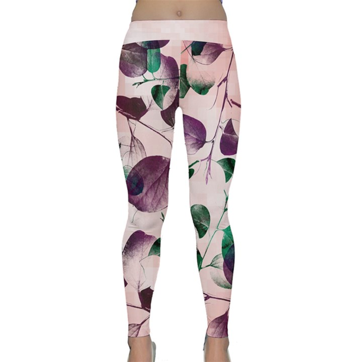 Spiral Eucalyptus Leaves Yoga Leggings