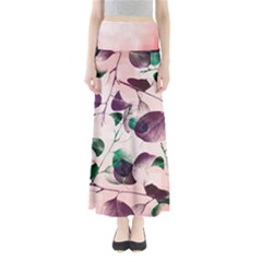 Spiral Eucalyptus Leaves Women s Maxi Skirt