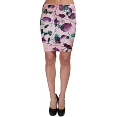 Spiral Eucalyptus Leaves Bodycon Skirt by DanaeStudio