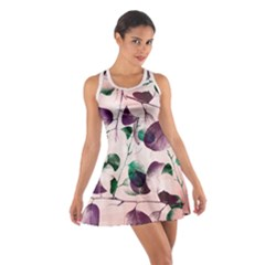 Spiral Eucalyptus Leaves Cotton Racerback Dress by DanaeStudio