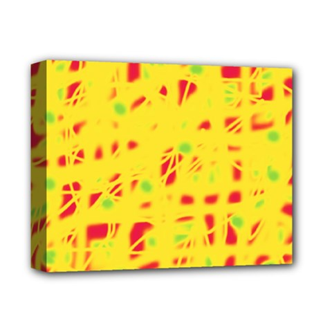 Yellow And Red Deluxe Canvas 14  X 11  by Valentinaart