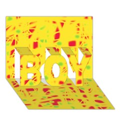 Yellow And Red Boy 3d Greeting Card (7x5) by Valentinaart