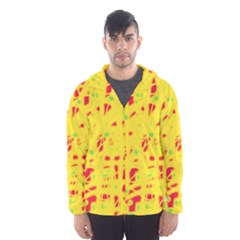 Yellow And Red Hooded Wind Breaker (men)