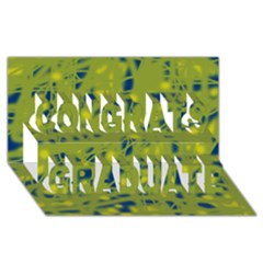 Green And Blue Congrats Graduate 3d Greeting Card (8x4) by Valentinaart
