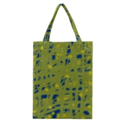 Green And Blue Classic Tote Bag by Valentinaart