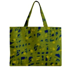 Green And Blue Zipper Mini Tote Bag by Valentinaart