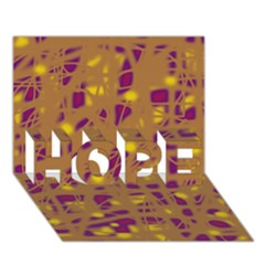 Brown And Purple Hope 3d Greeting Card (7x5) by Valentinaart