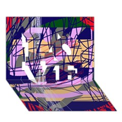 Abstract High Art By Moma Love 3d Greeting Card (7x5)