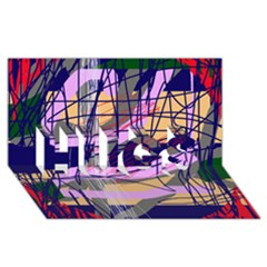 Abstract High Art By Moma Hugs 3d Greeting Card (8x4) by Valentinaart