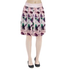 Spiral Eucalyptus Leaves Pleated Skirt
