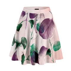 Spiral Eucalyptus Leaves High Waist Skirt