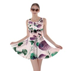 Spiral Eucalyptus Leaves Skater Dress