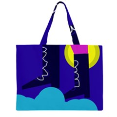 Walking On The Clouds  Zipper Large Tote Bag