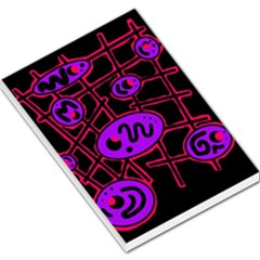 Purple And Red Abstraction Large Memo Pads by Valentinaart