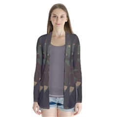 Woodland Camo Pattern Drape Collar Cardigan by artpics