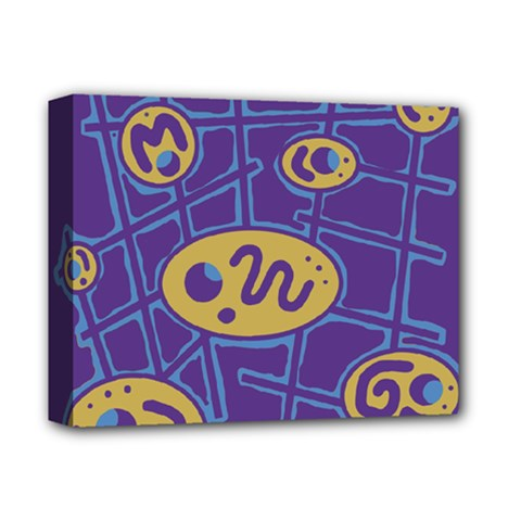 Purple And Yellow Abstraction Deluxe Canvas 14  X 11  by Valentinaart