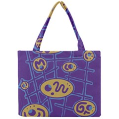Purple And Yellow Abstraction Mini Tote Bag by Valentinaart