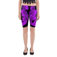 Halloween Witch   Purple Moon Yoga Cropped Leggings by Valentinaart