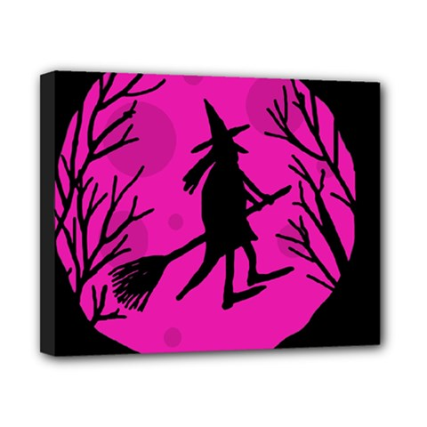 Halloween Witch   Pink Moon Canvas 10  X 8  by Valentinaart