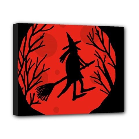 Halloween Witch   Red Moon Canvas 10  X 8  by Valentinaart