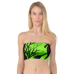 Halloween Witch   Green Moon Bandeau Top by Valentinaart