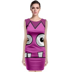 Halloween Frankenstein   Pink Classic Sleeveless Midi Dress by Valentinaart