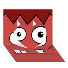 Halloween Frankenstein   Red Heart 3d Greeting Card (7x5) by Valentinaart
