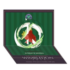 Wimbledon 2016  Peace Sign 3d Greeting Card (7x5)