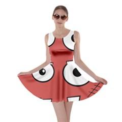 Halloween Frankenstein   Red Skater Dress by Valentinaart