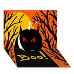 Halloween Monster Apple 3d Greeting Card (7x5)