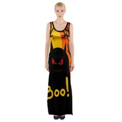 Halloween Monster Maxi Thigh Split Dress by Valentinaart