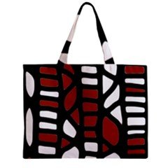 Red Decor Zipper Mini Tote Bag by Valentinaart