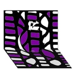 Purple Decor Apple 3d Greeting Card (7x5) by Valentinaart