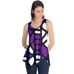 Purple Decor Sleeveless Tunic by Valentinaart