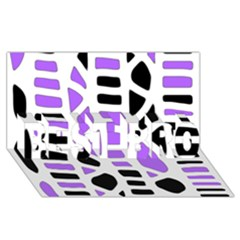 Purple Abstract Decor Best Bro 3d Greeting Card (8x4) by Valentinaart