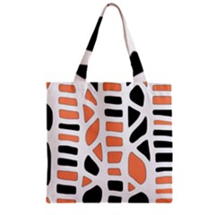 Orange Decor Zipper Grocery Tote Bag by Valentinaart