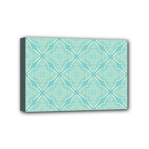 Light Blue Lattice Pattern Mini Canvas 6  X 4  by TanyaDraws