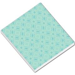 Light Blue Lattice Pattern Small Memo Pads by TanyaDraws
