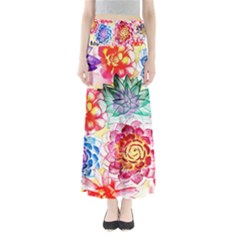 Colorful Succulents Women s Maxi Skirt