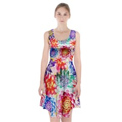 Colorful Succulents Racerback Midi Dress