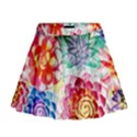 Colorful Succulents Mini Flare Skirt View1