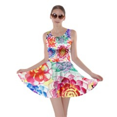 Colorful Succulents Skater Dress