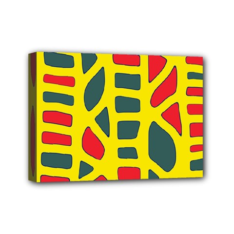 Yellow, Green And Red Decor Mini Canvas 7  X 5  by Valentinaart