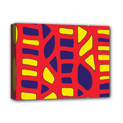 Red, Yellow And Blue Decor Deluxe Canvas 16  X 12   by Valentinaart
