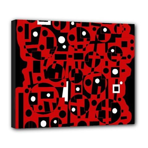 Red Deluxe Canvas 24  X 20   by Valentinaart