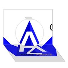 Azure Prince Circle 3d Greeting Card (7x5) by azureprinceinc